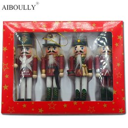 Wholesale Nutcracker Puppet - New 2017 Christmas Nutcracker Decorative Accessories Small Tin Soldier Humanoid Toy Puppet Toys Child's Christmas Gift