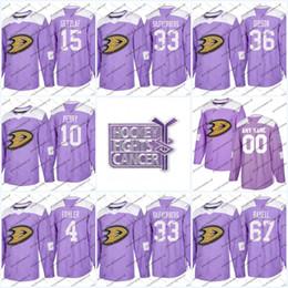 859b06b97 Mens Purple Fights Cancer Practice Anaheim Mighty Ducks 33 Jakob  Silfverberg 15 Ryan Getzlaf 36 John Gibson 17 Ryan Kesler Hockey Jerseys