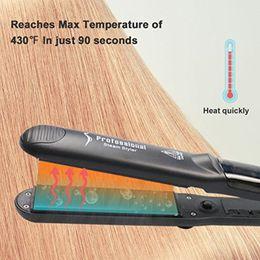 Wholesale Equipment For Hair Salon - Professional Steam Hair Straightener,Vapor Flat Iron Ceramic Tourmaline Straightening Iron For Wet & Dry Hair Wave Beauty Salon Equipment