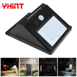 Wholesale Motion Detection Function - 20led Outdoor Solar Sensor LED wall Light, PIR Motion Sensor Detection Range With Dusk to Dawn Dark Sensing Auto On Off Function wholesales