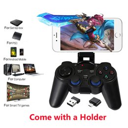 Game-controller für android tv-box online-Tragbare 2,4G Wireless Game Controller Gaming Joystick Griff Gamepad Joypad Für PS3 Android TV Box OTG Smartphone Tablet PC