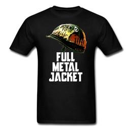 Wholesale Full Metal Movie - FULL METAL JACKET BORN TO KILL Men's Tshirts VINTAGE MOVIE Cotton Tees size S-XXXL
