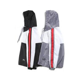 Wholesale Popular Coat Brands - 2018 spring and autumn Tide Brand European American Fashion street popular non mainstream hip hop Men's wear Windbreaker thin coat Free fre