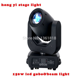 Wholesale Moving Head Led Gobo - Big Powerful 150W Gobo LED Moving Head Beam Wash Spot Lights 2 Gobo Wheels 3 Facet Prism Dj DMX Disco Stage Effect Light