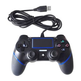 manejar consolas de juegos Rebajas 2018 Nuevo PS4 USB Wired Controllers Gamepads para PS4 Game Controller Vibration Wired Joystick para PlayStation 4 Console Handle Gamepads