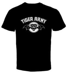 2019 più camicia di tigre di formato Tiger Army Punk Rock Band 2 New T Shirt T Shirt Uomo Man's Funny Custom manica corta San Valentino Plus Size T-shirt più camicia di tigre di formato economici
