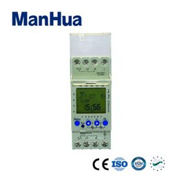 Argentina Pantalla LCD Manhua 220 VCA 2 canales 7 días Ciclo multifuncional Digital Mini temporizador Interruptor de control de relé AHC822 (MT822) supplier digital relay switch Suministro