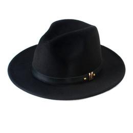 2019 женская шерсть панама fedora New Fashion Wool Women's Black Fedora Hat For Laday Woolen Wide Brim Jazz  Cap Vintage Panama Sun Top Hat 20 дешево женская шерсть панама fedora