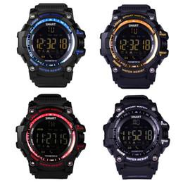 2019 notification bluetooth EX16 SmartWatch Bluetooth Horloge Notification Télécommande Podomètre Montre Sport IP67 Étanche Montre-Bracelet Pour Hommes promotion notification bluetooth