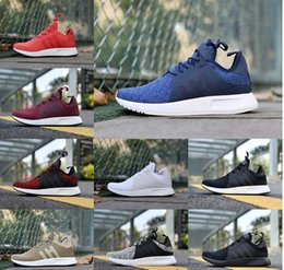 Wholesale Floor Cut - 2 NEW NMD X_PLR Running Shoes Ultra boost Triple Black white red grey blue Fashion men NMDS X PLR Ultrals Boosts Sports Shoes