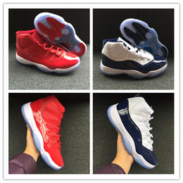 Wholesale Gym Rubber Bands - Win Like '96 Retro11 Chicago Gym Red Basketball Shoes Win Like 82 11s Athletic Sport Sneakers Unisex Men Women Trainers 36-47