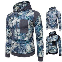 Wholesale Paisley Hoodie - Hot Sale England Style Men's Hoodies Patchwork Printed Solid Pullover Hooded Long Sleeved Autumn Spring Tops