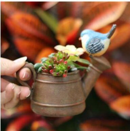 Vaso di natale diy online-Addobbi natalizi Flower Plant Resina Vaso Crown Glass Cloche Vasi DIY Home Office Desk Decor vasi da fiori Decorazioni FreeDHL