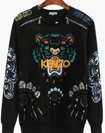 Sonbahar ve kış bluz moda yeni yuvarlak boyun nakış hayvan desen erkekler ve kadınlar uzun kollu kazak çift hip hop serin kazak nereden