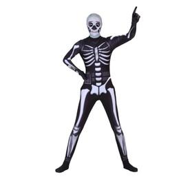 Косплей призрак лицо воин череп trooper костюмы малыша молния лайкра комбинезоны костюм / маска для взрослых Хэллоуин ужас костюм мужчины/женщины от Поставщики x маска для лица