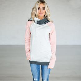 doppel-kapuzenpulli Rabatt Plus Size Hoodies Sweatshirts Frauen Herbst Pullover Oversize Hoodie Weiblich Warm Double Hooded Sweatshirt Patchwork Hoody XXXL