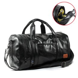 6df3fa9ffad6 men leather travel gym bags Coupons - GYKZ Men Leather Travel Duffle Bag  Women Sport Gym