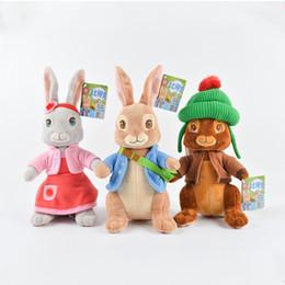 """Yeni varış 100% Pamuk Yumuşak ve Güzel 11.5 """"30 cm 3 Stil Peter Tavşan Peluş Bebek Dolması Hayvanlar Oyuncak Hediyeler Için nereden robot bebekleri tedarikçiler"""