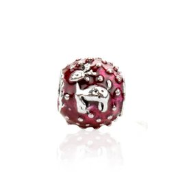 Charme de veado branco on-line-Branco Ou Red Deer Bonito Charme Bead Big Hole Moda Feminina Jóias Estilo Europeu Para Pandora Pulseira Colar