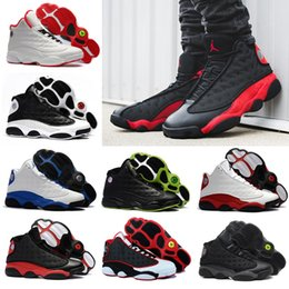 new arrival 9cb60 c451b Günstige 13 13s Basketballschuhe Herren Hyper Royal Italien Blau Bordeaux  Flints Chicago Bred DMP Weizen Olive Ivory Black Cat Men Sportschuhe