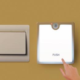 Wholesale Usb Infrared Sensor - Smart Body Detector Infrared PIR Motion Sensor LED Dimming Light USB Charging Night Light for Hallway Pathway Closet Wall Lamp