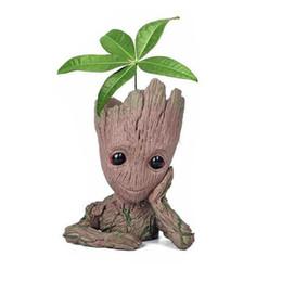 2018 Guardiani della Galassia Vendicatori Groot Flowerpot Action Figures Decorazione della casa Toy PVC Figurina Craft creativo da