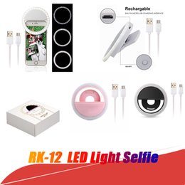 Anillo de flash universal online-Luz de LED universal Selfie Light Ring Light Lámpara de destello Selfie Ring Lighting Camera Photography para Iphone Samsung con paquete al por menor