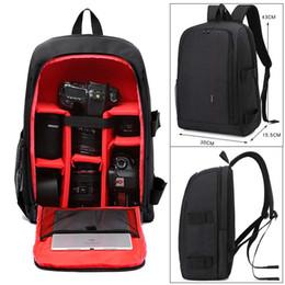 Wholesale Pe Camera - Upgrade Waterproof multi-functional Digital DSLR Camera Video Bag w  Rain Cover SLR Camera Bag PE Padded for Photographer