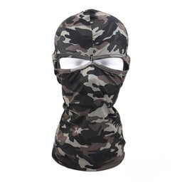 Wholesale Tactical Helmet Face Mask - Multi-function Tactical Camouflage Motorcycle Cycling Hunting Outdoor sports Ski Full Face Mask Helmet windproof comfortable