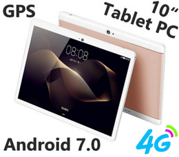 """Цельный 2018 MTK6737 10.1 дюймов 10"""" планшетный ПК Окта Core IPS Bluetooth 4 ГБ 64 ГБ 4G LTE Dual sim телефон Android 7.0 GPS бесплатная доставка от Поставщики sim, вызывающий планшетный фарфор"""