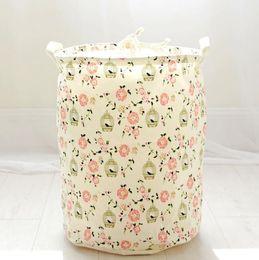 Wholesale ups for home use - Barrel shape Folding Pop Up Dirty Clothes Washing Laundry Basket Bag Bin Hamper Storage for Home Housekeeping Use Storage Baskets