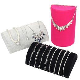 Argentina Exhibición de collar de joyería Exhibición Pulsera Collar Organizador Bandeja Caja Estante Terciopelo T15 Suministro