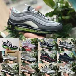 Wholesale cheap satin shoes - 2018 New vapormax 97 OG X Undftd Black Speed Red DS cheap Sale Mens 97s ultra sean wotherspoon Shoes women aIrS Undftds undefeated Sneakers