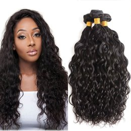indain human hair Promo Codes - Brazilian Water Wave Hair 3 Bundles 8A Unprocessed Peruvian Malaysian Indain Virgin Hair Bundles Water Wave Cheap Human Hair Extensions