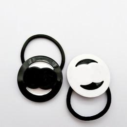 verbundene ringe Rabatt CC Acryl einfach verbunden runde Doppelschicht Haar Ring Kopf Seil Leder Sehne Haar Seil Krawatte Haarspange Mode Ornamente