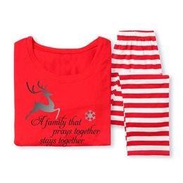 Argentina Hot Fairy XMAS Family Matching Christmas Pyjamas Set Women's Women Kids Deer Striped ropa de dormir ropa de dormir ropa supplier xmas pyjamas sets Suministro