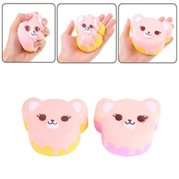 Wholesale Play Bored - Creative Squishy Bear Head Cream Soft Scented Cake Decompression Toys Squishies Children Play House Toy Gift 12mna CR