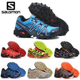 Zapatos impermeables para correr online-Venta al por mayor de Salomon Speedcross 3 CS mens Running Shoes hombres de arena negro zapatillas de deporte ligeros zapatos deportes atléticos impermeables zapato tamaño 40-46