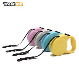 Wholesale Leash Walking Training - Retractable Dog Leash Lead Nylon Pets Cats Puppy Walk The Dog Automatic Retractable Walking Leads One-handed Lock Training 3M 5M