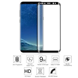 Wholesale sumsung galaxy cases - For Sumsung Galaxy S9 S9 Plus 3D Tempered Glass Case Friendly Screen Protector Film Curved Ultra Clear edge With Retail Package Box