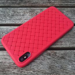 TPU Caso Anti casi di slittamento Leather Texture Phone Cover per iPhone X XS MAX XR 7 8 casi Iphone da
