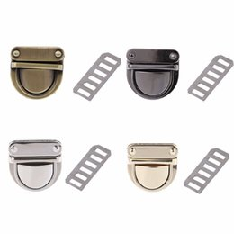Wholesale Twist Locks For Bags - THINKTHENDO 3x3cm Metal Clasp Turn Lock Twist Lock for DIY Handbag Bag Purse Hardware Closure 4 Color