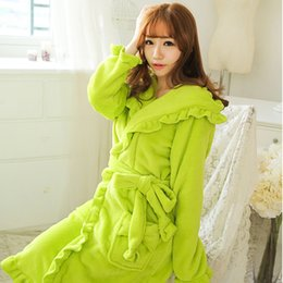 Wholesale Sexy Winter Nightgowns - Bust 90-110cm Winter Robe Women Robe Sleep Robes For Women 1145