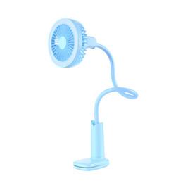 Lampe de lecture rechargeable usb en Ligne-Ventilateur de lampe de bureau à LED, ventilateur à lumière réglable à 360 degrés, ventilateur de lecture de chevet avec USB rechargeable, vent naturel.