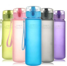 Wholesale Branded Drink Bottles - MEOW Brand BPA Free Leak Proof Sports Water Bottle High Quality Tour Hiking Portable My Favorite Bottles 400ml 560ml