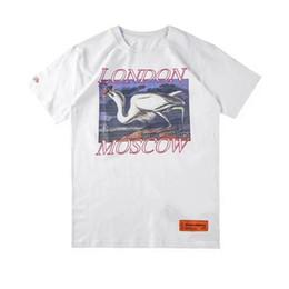 T-shirt heiße modell frauen online-Herren Frauen T-shirt Übergröße Ins 3D Kran Muster Lose Modelle Hals Baumwolle Kurzarm Heißer Verkauf Tees Tops Liebhaber Mode Männer T-Shirts