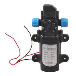 Membranpumpendruck online-Aquarium Wasserpumpe DC12V 60W Hochdruck Micro Membran Wasserpumpe Automatikschalter Wasser Luftpumpe 5L / min