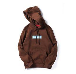 Wholesale Neck Sweater Men - supreman Brand Clothing embroidery hooded sweater street hip hop Skateboards men's women's hoodies top coat