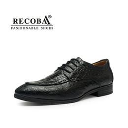 navy oxford shoes Promo Codes - Men wedding shoes luxury brand designer  large size genuine leather ecbe17fca7cc