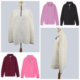 Wholesale Urban Brand Clothing - Sherpa Fleece Zipper Hoodie Half Zipper Pullover Streetwear Cool Hiphop Urban Clothing Winter Warm Tops 50pcs LJJO4442